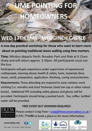 Lime Pointing workshop 17th May
