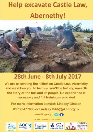 Castlelaw Hillfort – The Big Dig! Abernethy  28 June – 8 July 2017
