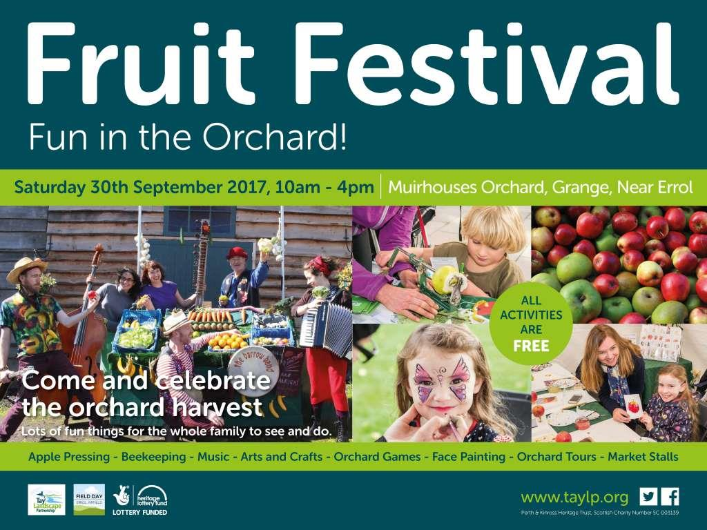 30th September 10am – 4pm Muirhouses Orchard, Grange, near Errol