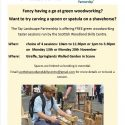 FREE Green Woodworking Sessions – Carve a Spoon or Spatula – 20 November 2017 – Scone – Spaces available in the afternoon