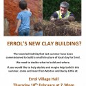 Help Build Errol's New Clay Structure!