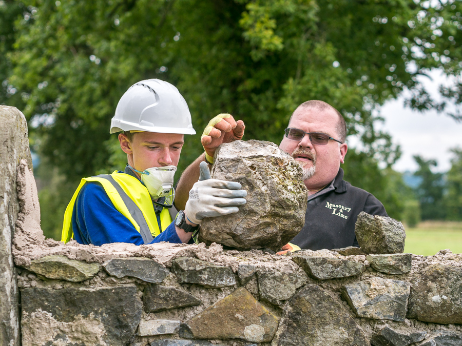 Megginch Castle wall restoration. Ben Carter, Hans Morning.